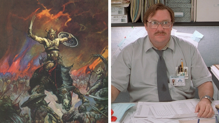 Viking vs office space cubicle
