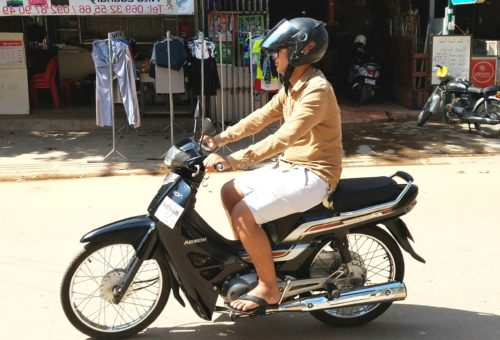 Cambodia Honda dream scooter