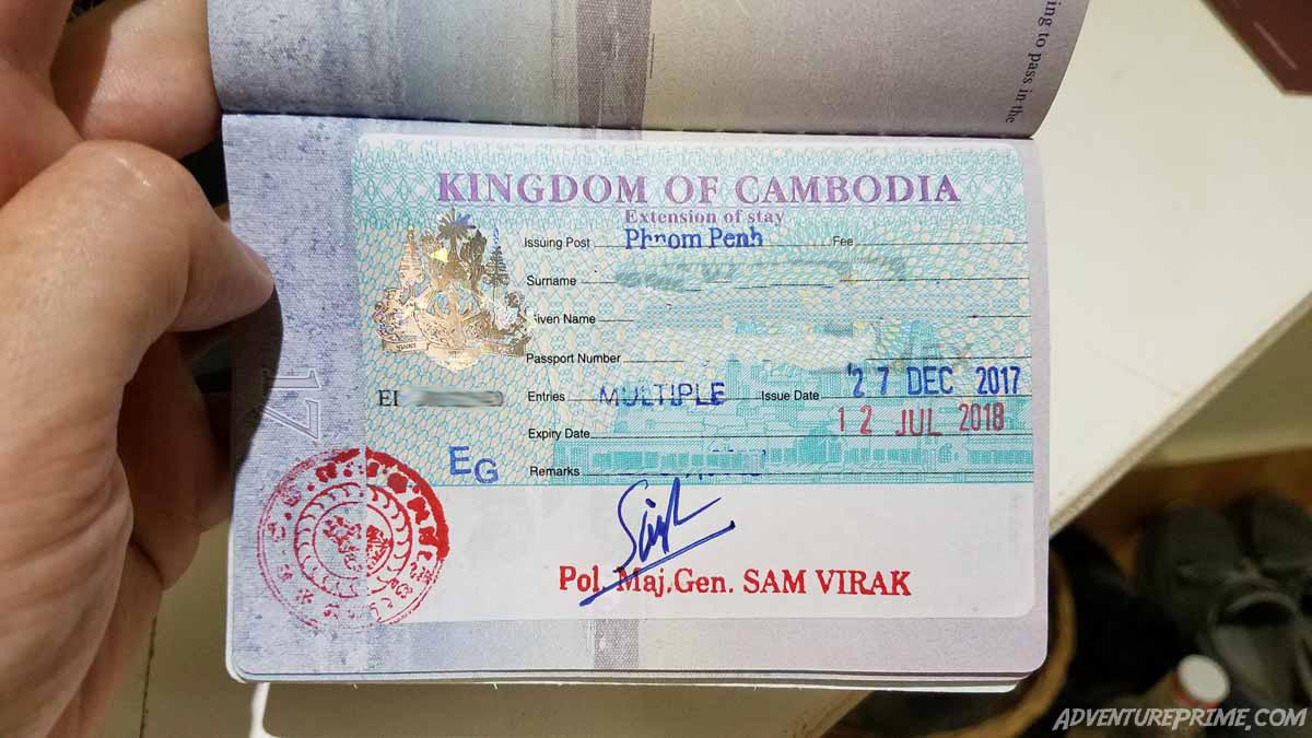 Cambodian long term EG visa month