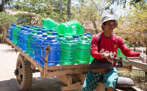 Khmer water delivery