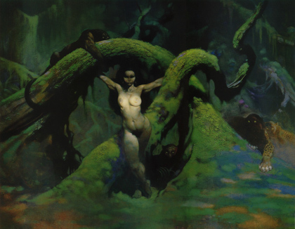 frank frazetta catgirl curiosity is the lust of of the mind w