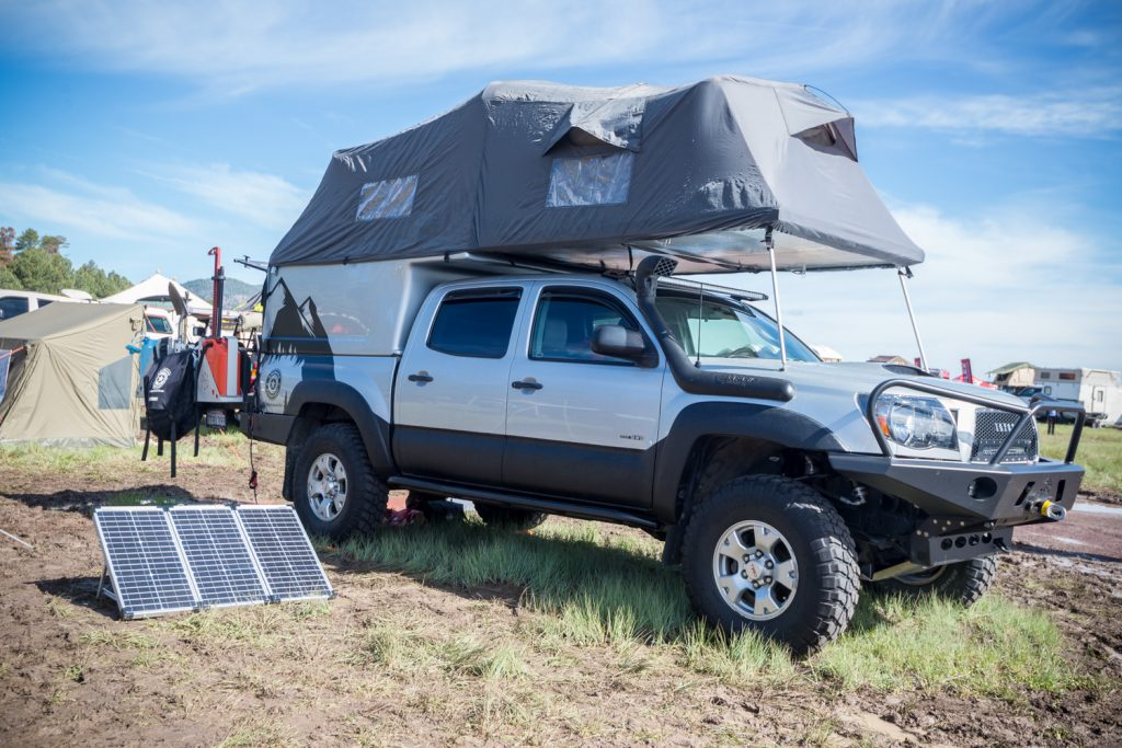 pickup with flip pac camper