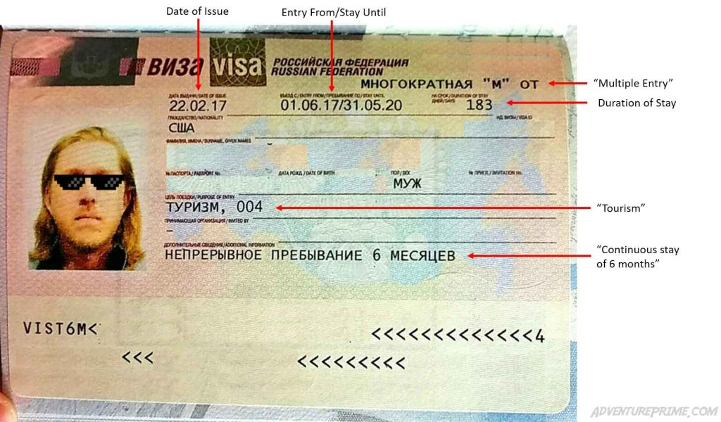 russian year multiple entry visa