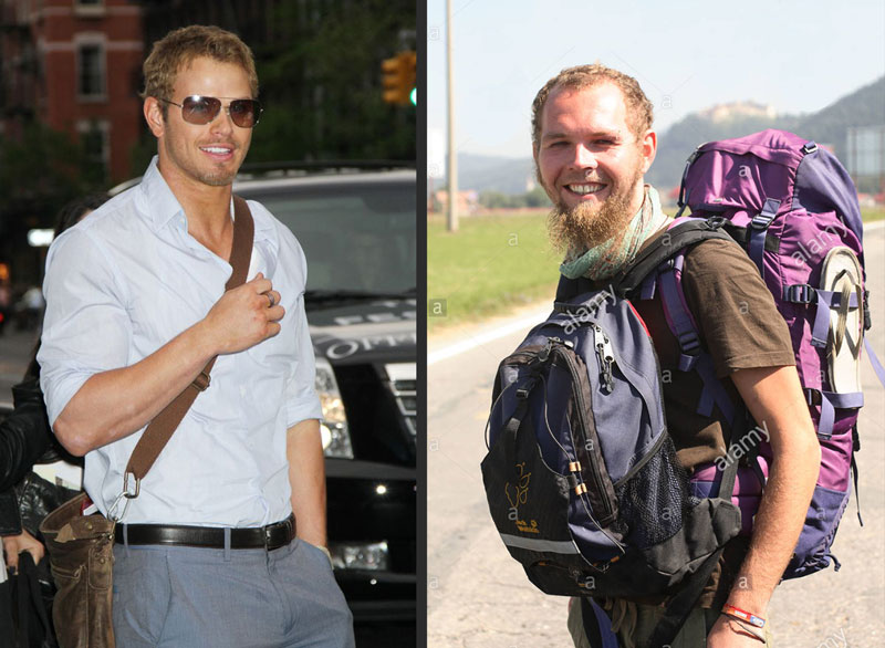 stylish guy vs scruffy backpacker
