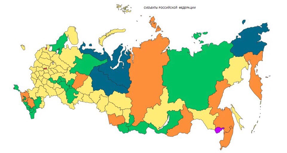subject of Russian Federation map