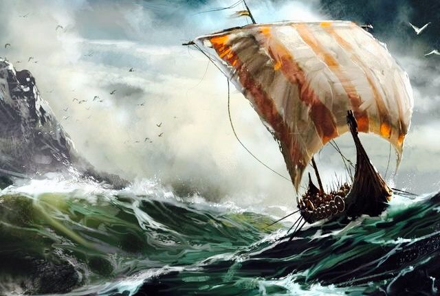 viking ship in storm A ship in harbor is safe quote